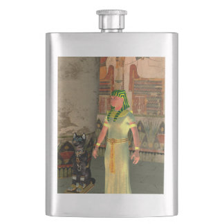 Pharao in the pyramid hip flasks