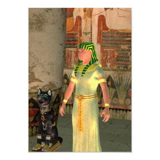 Pharao in the pyramid 13 cm x 18 cm invitation card