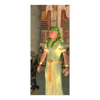 Pharao in the pyramid 10 cm x 24 cm invitation card