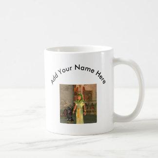 Pharao in the pyramid basic white mug