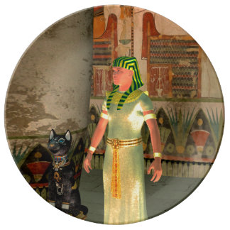 Pharao in the pyramid porcelain plates