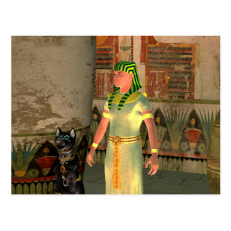 Pharao in the pyramid postcard