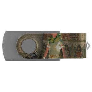 Pharao in the pyramid swivel USB 2.0 flash drive