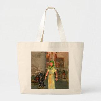 Pharao in the pyramid jumbo tote bag
