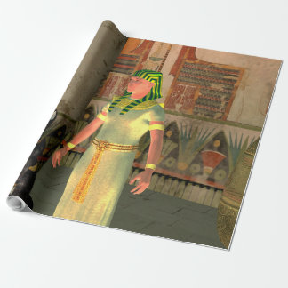 Pharao in the pyramid wrapping paper