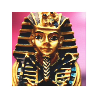 Pharaoh Ancient Egyptian Statue Tomb Art Canvas