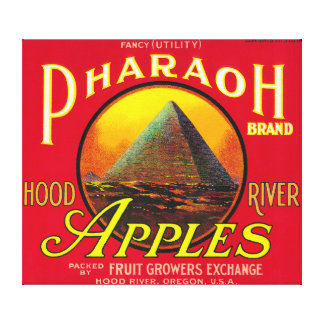 Pharaoh Apple Crate LabelHood River, OR Canvas Print