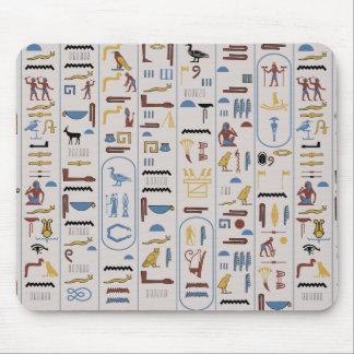 Pharaoh Ash Background Ancient Hieroglyphs Mouse Mat
