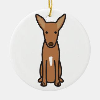 Pharaoh Hound Dog Cartoon Christmas Ornament