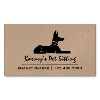 Pharaoh Hound Magnetic Business Cards