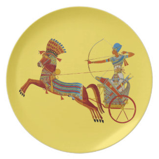 Pharaoh on Chariot Melamine Plate