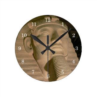 Pharaoh Statuette Wall Clock