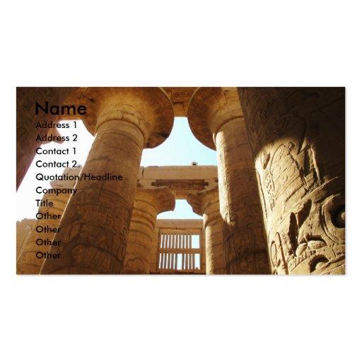 Pharaohnic Hieroglyphics, Karnak Temple picture Business Card Templates