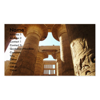 Pharaohnic Hieroglyphics, Karnak Temple picture Pack Of Standard Business Cards