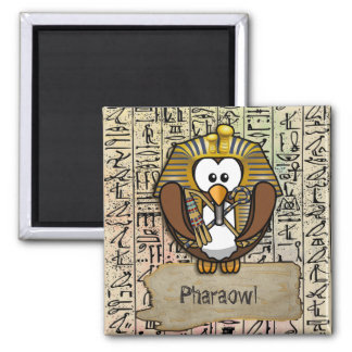 Pharaowls papershop square magnet