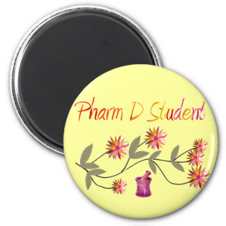 Pharm D Student Floral Design 6 Cm Round Magnet
