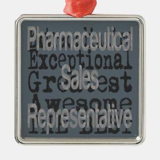 Pharmaceutical Sales Representative Extraordinaire Silver-Colored Square Decoration
