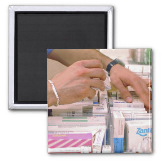 Pharmacist 2 square magnet