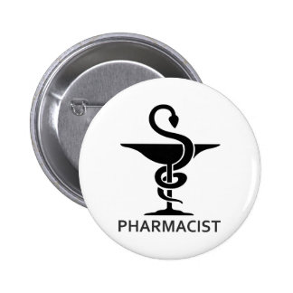 PHARMACIST 6 CM ROUND BADGE