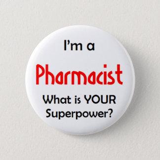 pharmacist 6 cm round badge