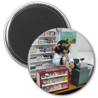 pharmacist 6 cm round magnet
