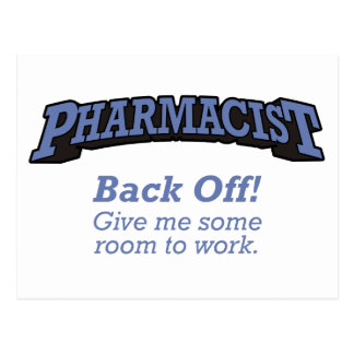 Pharmacist / Back Off Post Cards