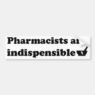Pharmacist Bumper Sticker 1