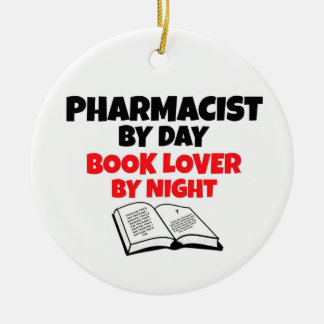 Pharmacist by Day Book Lover by Night Christmas Ornament