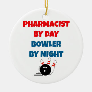 Pharmacist by Day Bowler by Night Christmas Ornament