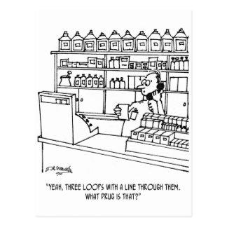 Pharmacist Cartoon 3109 Postcard