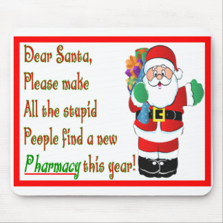 Pharmacist Christmas Cards & Gifts Mousepad