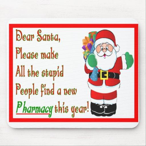 Pharmacist Christmas Cards & Gifts Mousepad