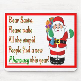 Pharmacist Christmas Cards Gifts Mousepad