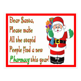 Pharmacist Christmas Cards & Gifts Postcard