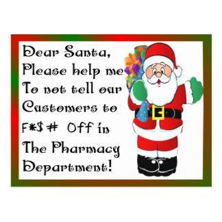 Pharmacist Christmas Themed Gifts Postcard