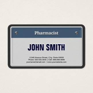 Pharmacist Cool Car License Plate