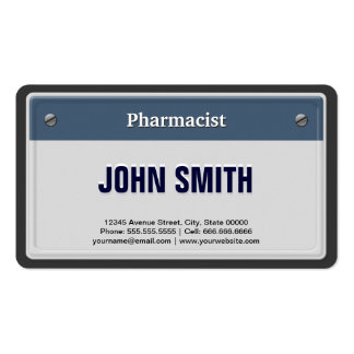 Pharmacist Cool Car License Plate Pack Of Standard Business Cards