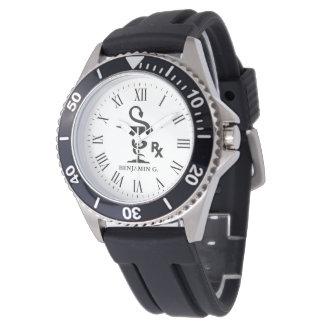 Pharmacist Custom Name Bowl of Hygenia Wrist Watch