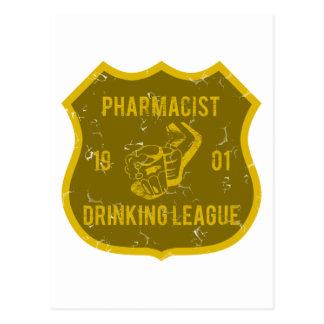 Pharmacist Drinking League Postcard
