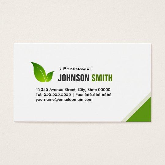 Pharmacist - Elegant Modern Green Business Card