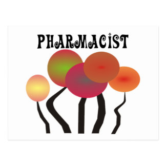 Pharmacist Gifts  Whimsical Trees Design Post Cards