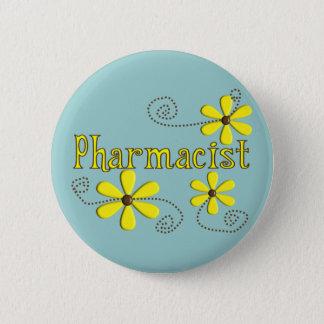 Pharmacist Gifts, Yellow Daisies 6 Cm Round Badge