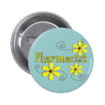 Pharmacist Gifts, Yellow Daisies Pinback Button