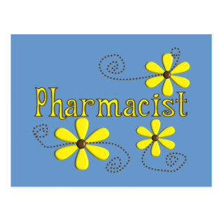 Pharmacist Gifts, Yellow Daisies Post Card