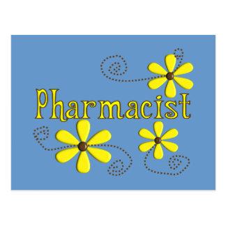 Pharmacist Gifts, Yellow Daisies Postcard