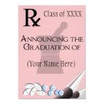 Pharmacist Graduation Invitations Rx Pad Design 5 13cm X 18cm Invitation Card