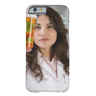 Pharmacist holding a pill bottle barely there iPhone 6 case