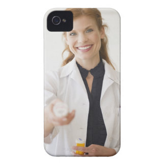 Pharmacist holding bottle of prescription iPhone 4 case