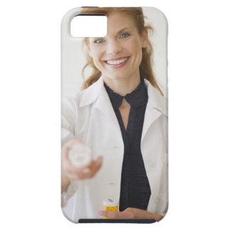 Pharmacist holding bottle of prescription tough iPhone 5 case
