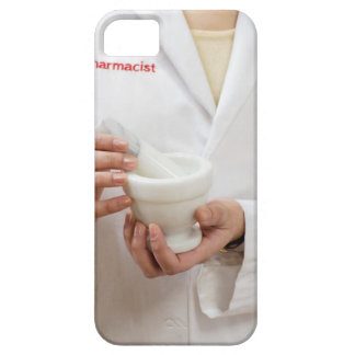 Pharmacist holding mortar and pestle iPhone 5 cover